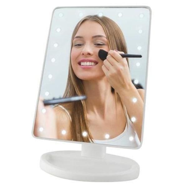 Sminkspegel med LED-ljus Vit