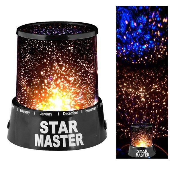 Stjärnprojektor / Stjärnhimmel Projektor Svart