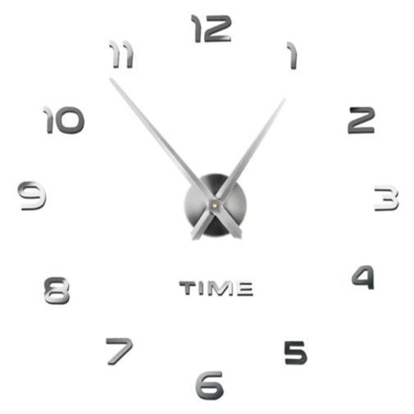 Väggklocka 60-130cm, Tyst gång, Gör-den-själv-kit Silver