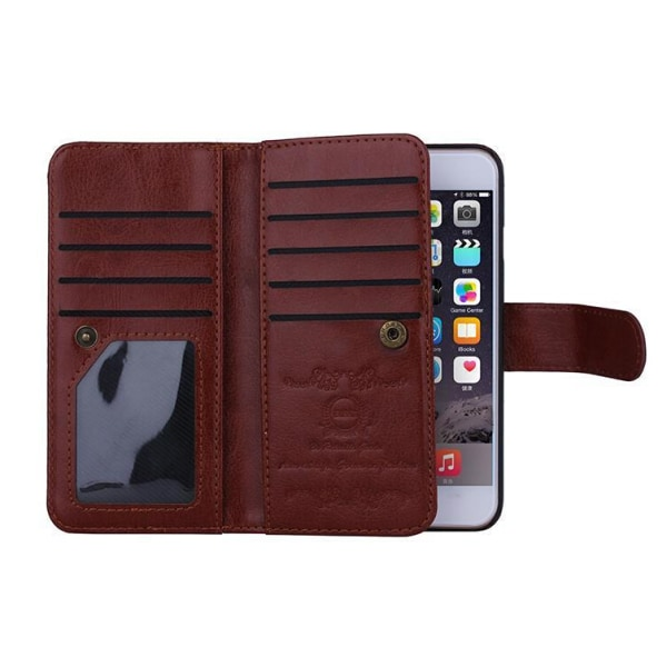 Multi flip wallet till iPhone 7 Svart