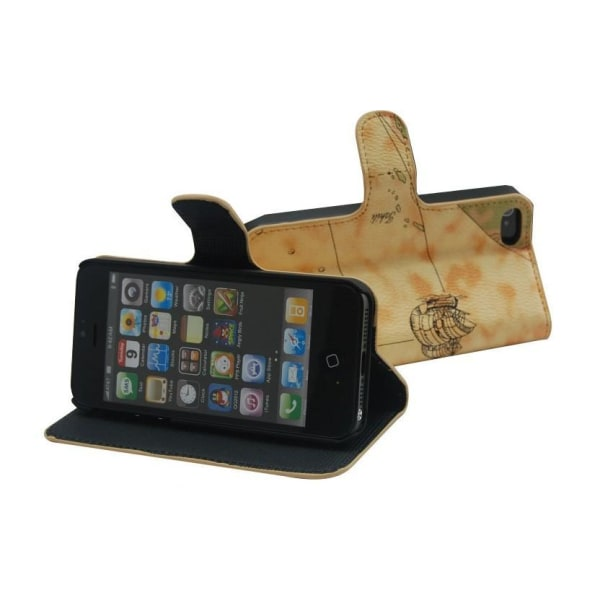 Plånboksfodral/ställ till iPhone 6+ Map Mörkbrun