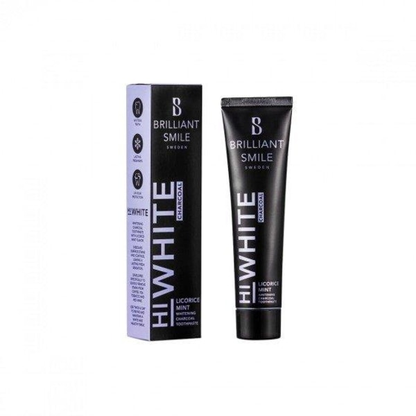 Brilliant Smile HiWhite Charcoal Licorice Mint 65ml Transparent