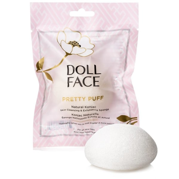 Doll Face Pretty Puff Original Konjac Cleansing Sponge Transparent