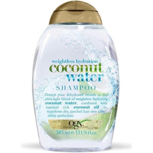 OGX Weightless Coconut Water Shampoo 385ml Transparent