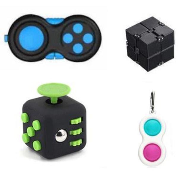 PRO set - 4 pack Fidget Toys Set för barn och vuxna NYHET multifärg one size