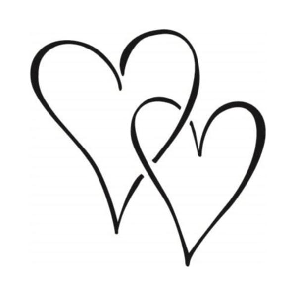 3-pack Dekorationshjärta Svart 15x15 cm Hjärta Väggdekor