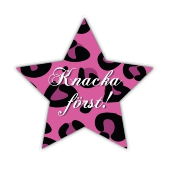Knacka först Stjärna Rosa Väggdekor Barn