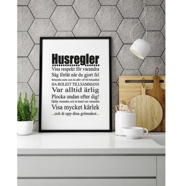 Poster Husregler  A4
