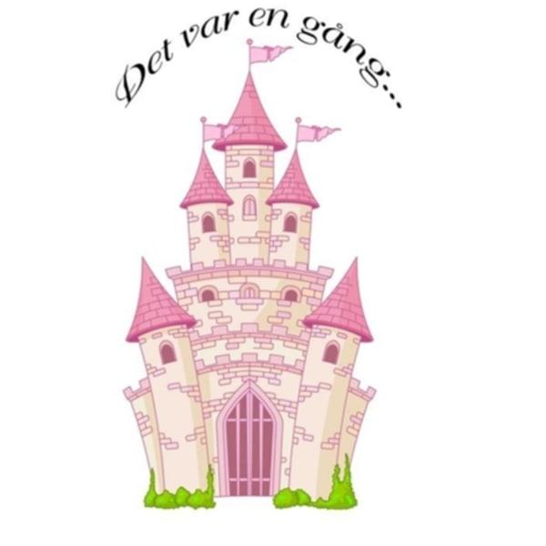 Prinsesslott Självhäftande väggdekor Barnrum