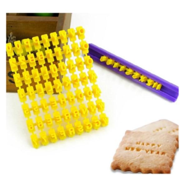 Kakstämpel bokstäver och siffror