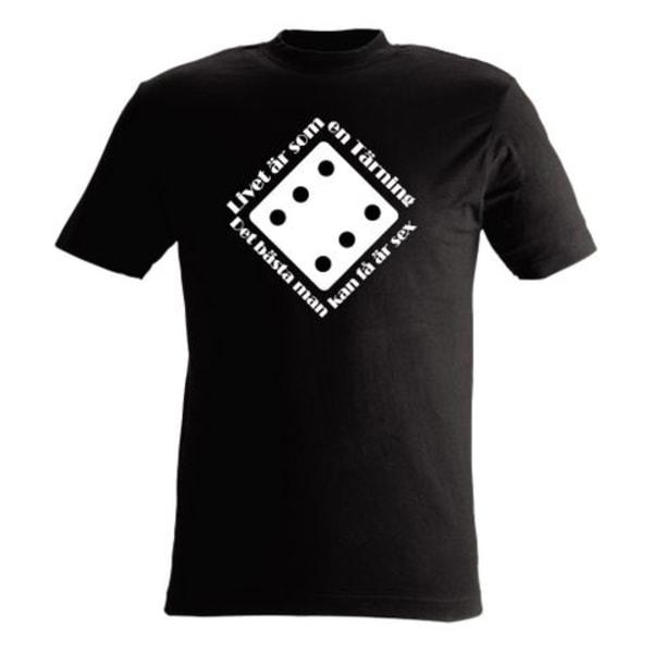 T-shirt Livet är som en tärning  nr 41 xxl