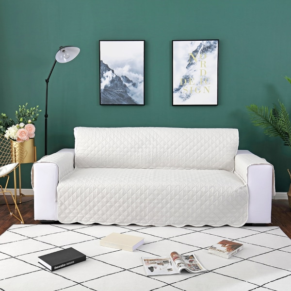 1/2/3 Seater Sofa Covers Lounge Protector Slipcovers Beige,55x196cm
