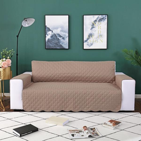 1/2/3 Seater Sofa Covers Lounge Protector Slipcovers Khaki,130x195cm