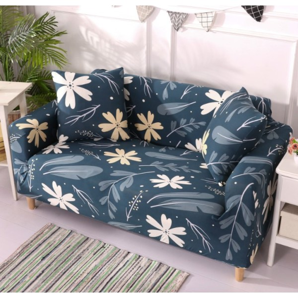 1-4 Seat Stretch Printed Sofa Cover Elastic Slipcover Protector Five leaf clover,3 Seater