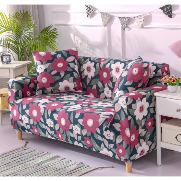 1-4 Seat Stretch Printed Sofa Cover Elastic Slipcover Protector Sunflower,1 Seater