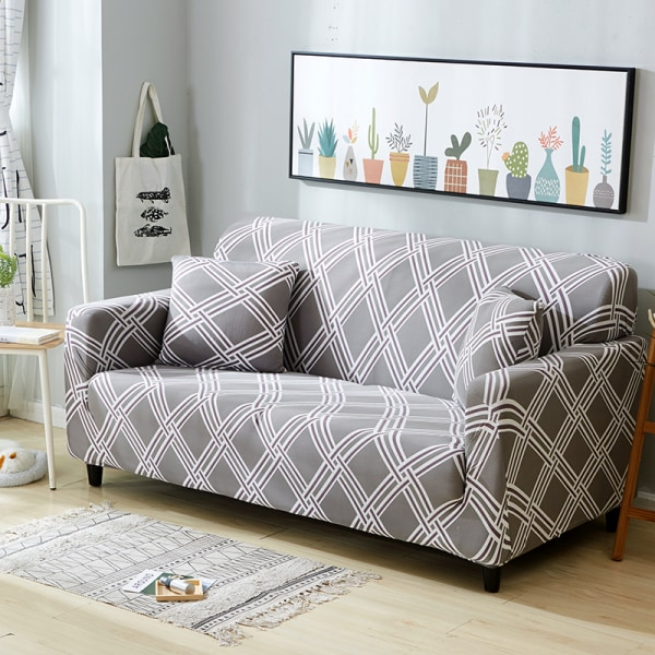 1-4 Seater High Stretch Sofa Elastic Couch Cover Slipcover Always affectionate,3 Seater