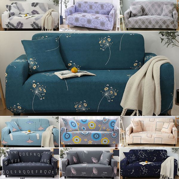 1-4 Seater High Stretch Sofa Elastic Couch Cover Slipcover letter,4 Seater