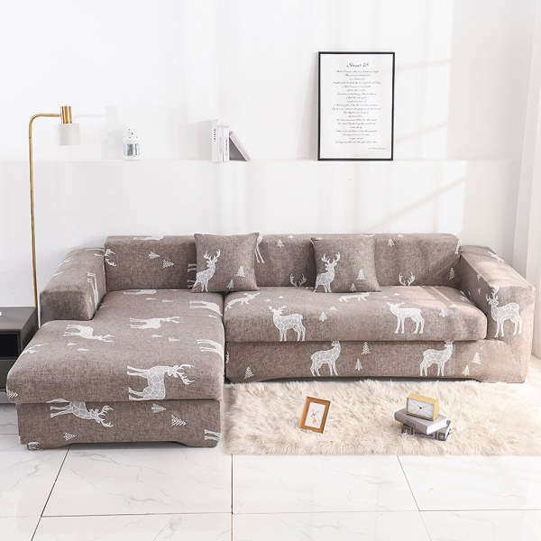 1-4 Seats Stretch Sofa Cover Couch Lounge Slipcover Protector Elk,4 Seater