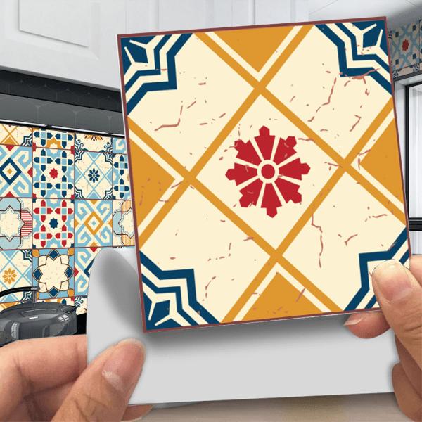 20Pcs Mosaic Tile Stickers Self Adhesive Home Decor Waterproof 2# 20x20cm