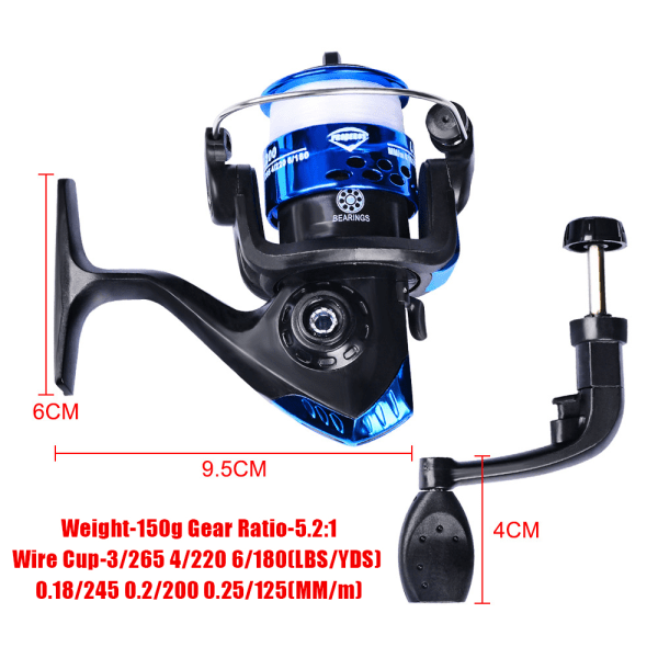 Baitcasting Reel High Speed 7.2:1 Reel 18+1BB Max 10KG blue