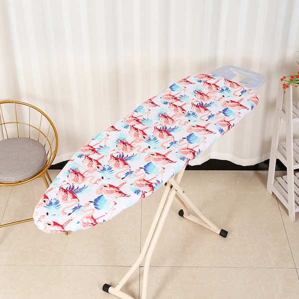 Ironing Board Cover Thick Padding Heat Resistant Scorch Pad White Flamingo 140x50cm
