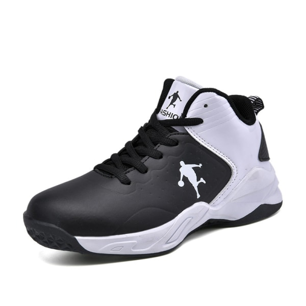 Kids Teens High Top Fashion Sneakers Athletic  Basketball Shoes black,33