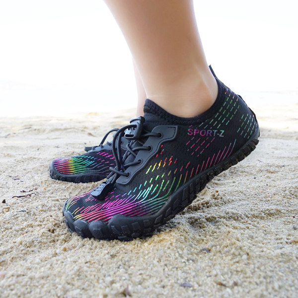 Kids Water Shoes Fishing Wading Quick Drying Beach Shoes black,36