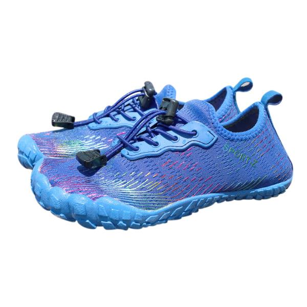 Kids Water Shoes Fishing Wading Quick Drying Beach Shoes blue,29