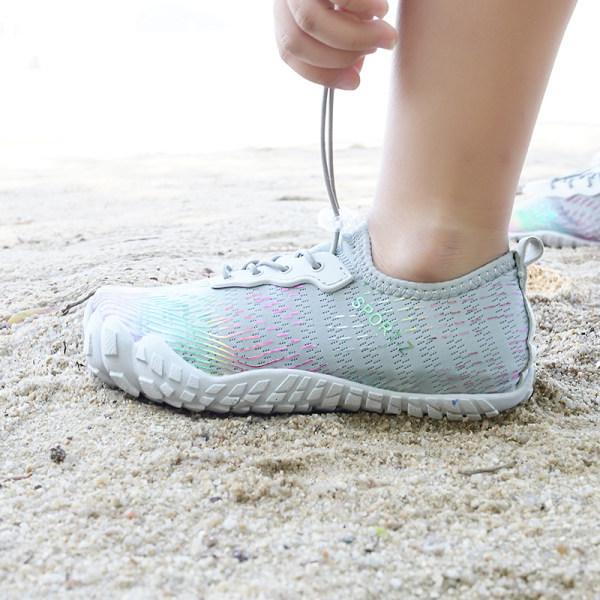Kids Water Shoes Fishing Wading Quick Drying Beach Shoes grey,31
