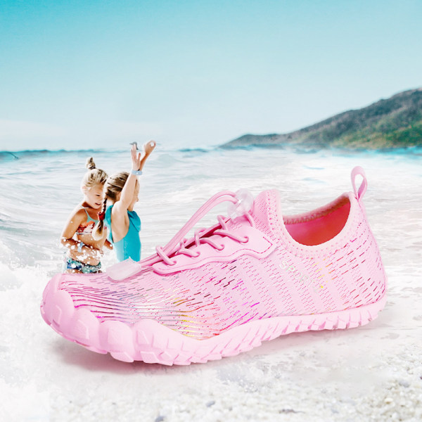 Kids Water Shoes Fishing Wading Quick Drying Beach Shoes Pink,35