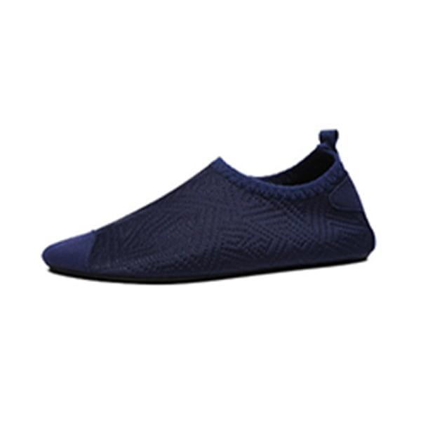 Kids Water Shoes Non-Slip Quick Dry Aqua Socks Beach Swim Navy blue/24-25
