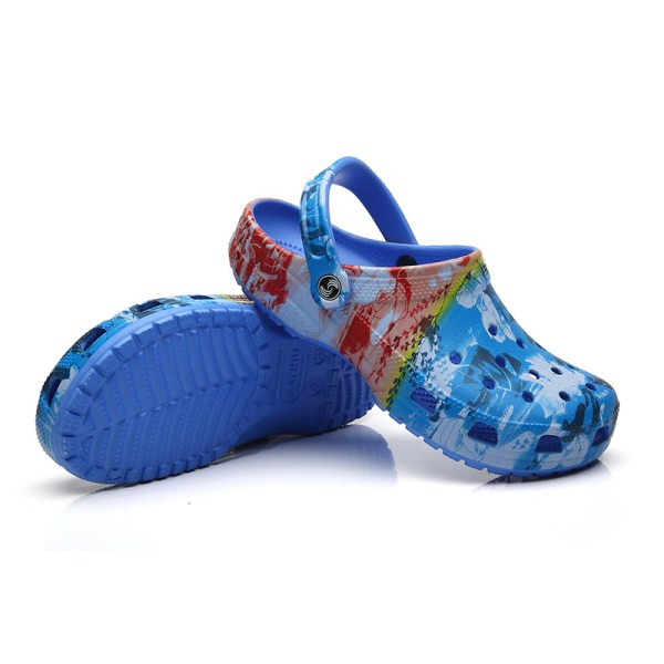 Ladies hole shoes summer slippers comfortable and healthy shoes Blue,37