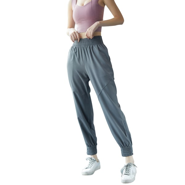 Ladies leisure yoga sports jogging sweatpants Gray,S