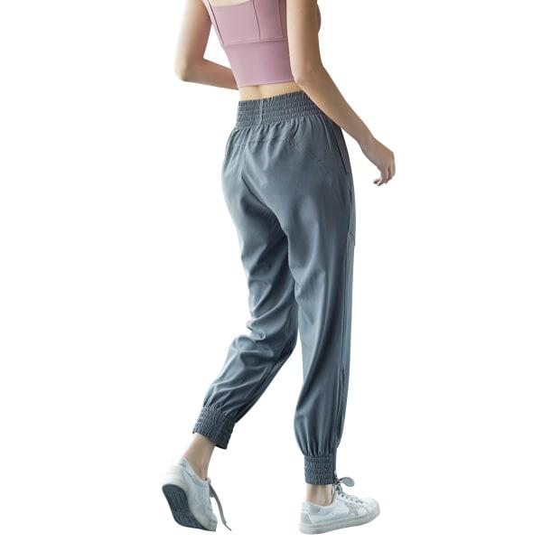 Ladies leisure yoga sports jogging sweatpants Gray,XL