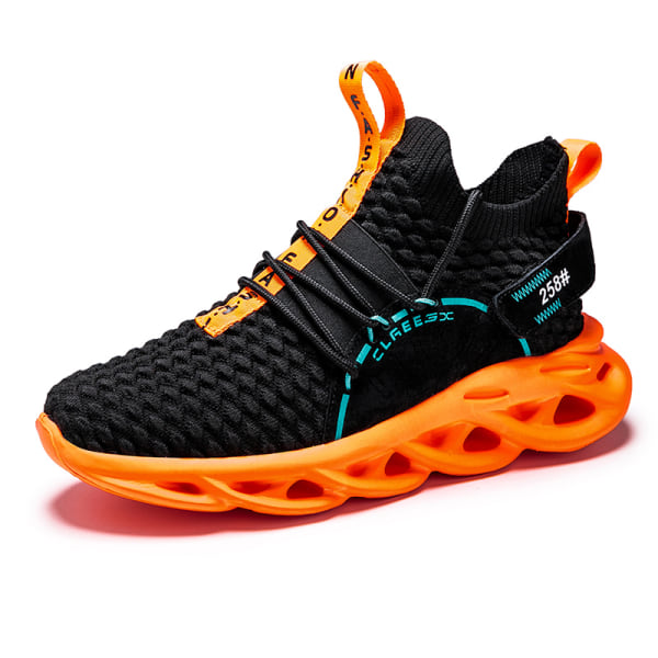 Men Athletic Sneakers Walking Sports Running Trainers Breathable Black,42
