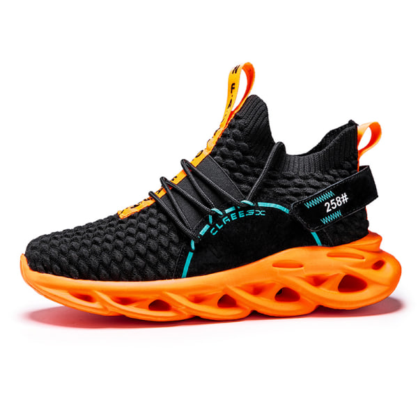 Men Athletic Sneakers Walking Sports Running Trainers Breathable Black,44