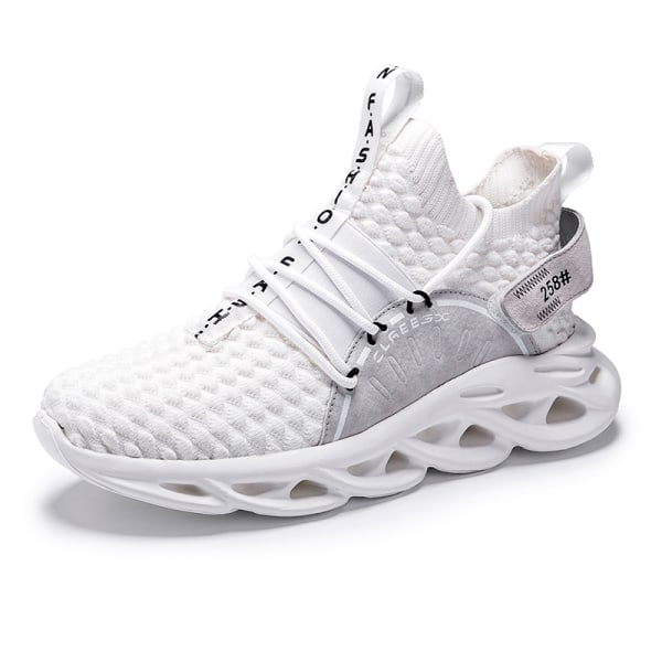 Men Athletic Sneakers Walking Sports Running Trainers Breathable White,46