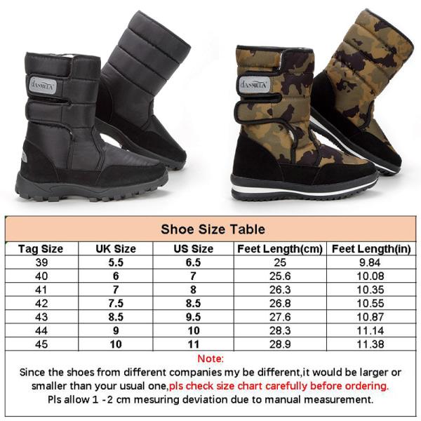 Men Plush Lined Winter Snow Boots Casual Warm Booties Waterproof Light Green,43