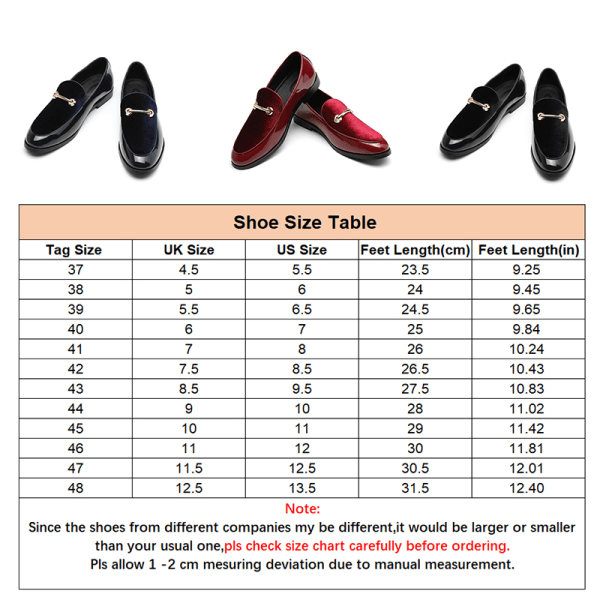 Men PU Leather Loafers Moccasins Casual Shoes Pointed Toe Red,39