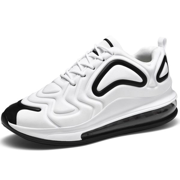 Men's Air Cushion Sneakers Athletic Running Lace Up Sports Shoes White,40