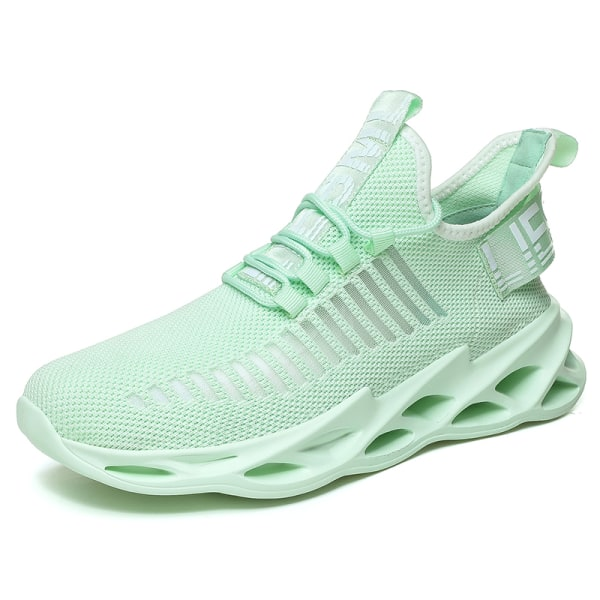 Men's Athletic Sneakers Sports Running Trainers Breathable Shoes Green,46