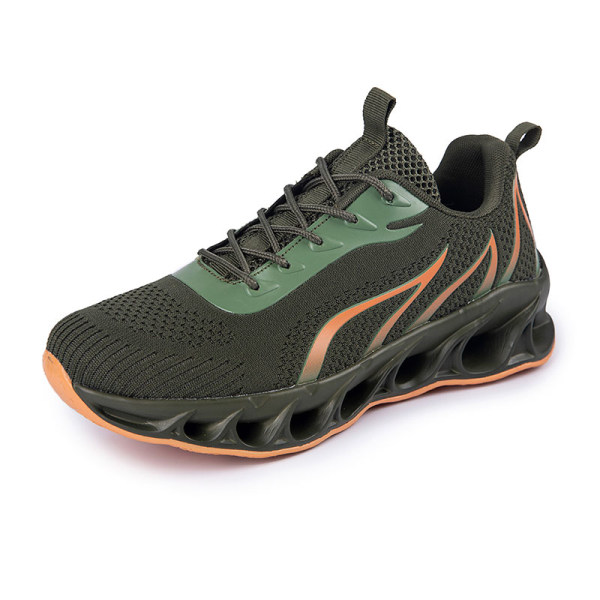 Men's Athletic Sneakers Walking Sports Running Trainers Shoes Army Green,39