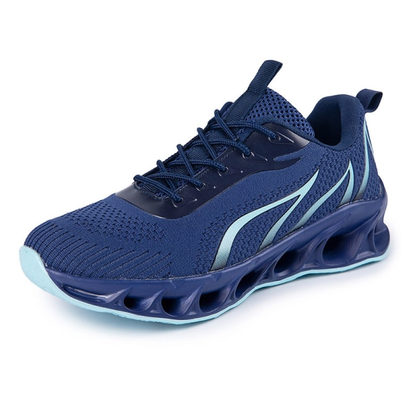 Men's Athletic Sneakers Walking Sports Running Trainers Shoes Navy Blue,39