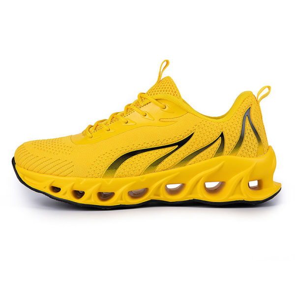 Men's Athletic Sneakers Walking Sports Running Trainers Shoes Yellow,43