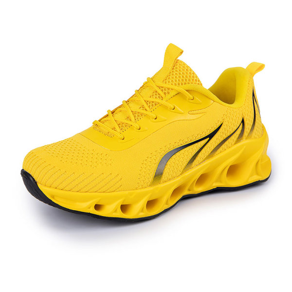 Men's Athletic Sneakers Walking Sports Running Trainers Shoes Yellow,44