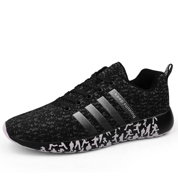 Herr andas ultralätta casual skor utomhus sportskor Black,38