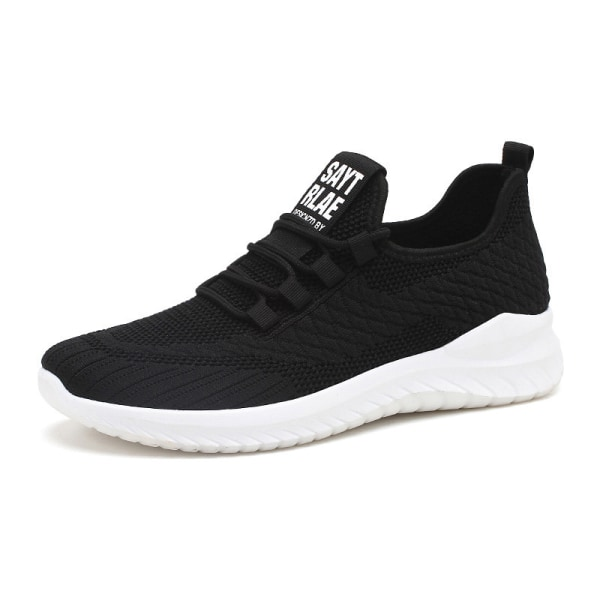 Men's casual breathable fitness shoes comfortable casual shoes Black,40