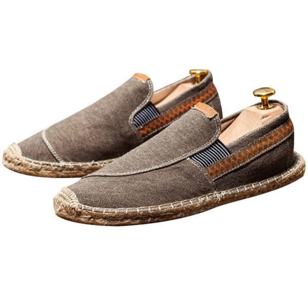 Men's fashion breathable canvas shoes outdoor casual shoes Brown ,45