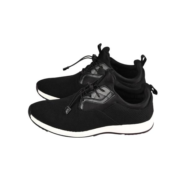 Men's Hiking Shoes Walking Shoes Drawstring Round Toe Sneakers Black,43