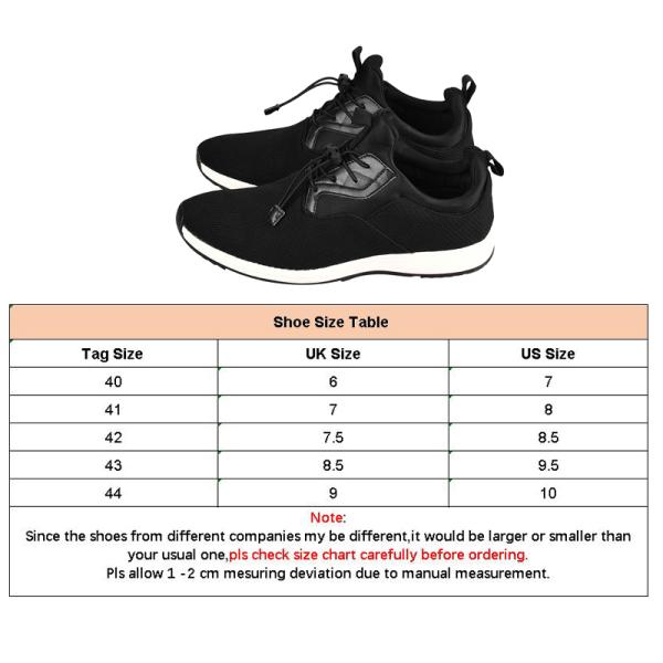 Men's Hiking Shoes Walking Shoes Drawstring Round Toe Sneakers Black,41